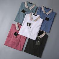 Дизайнерские рубашки Мужчины Роскошные поло Повседневная футболка Snake Bee Print Вышивка Мода High Street Mens Polos2563