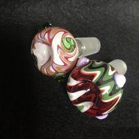 Vintage Wholesale Colorful 14mm 18mm Glass Bong Water Smoking pipe bowl Oil Burner for Dab Rig hookah shisha