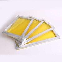 أجزاء أداة الألومنيوم 43 * 31 سنتيمتر إطار طباعة الشاشة امتدت مع الأبيض 120T الحرير طباعة البوليستر شبكة صفراء للوحة الدوائر المطبوعة 512 v2 6lhu