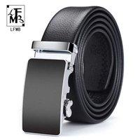 Cintos [lfmb] homens couro luxo preto automático GESP de alta qualidade cinto Cumberland masculino