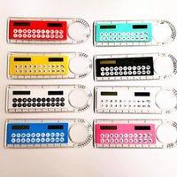 Juegos de novedad Juegos Mini Portátil Calculadora de energía solar CREATIVA CREATIVA Multifunción Regla Estudiantes Regalo