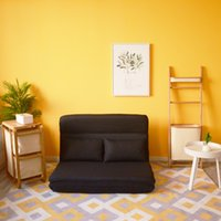 Yatak odası mobilya çekyat katlanır tembel kat sandalye yastık ile