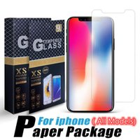 Screen Protector Mobile Phone 9H Transparent Tempered Glass For iPhone 11 12 13 mini Pro Max X XR XS 6 7 8 Plus Samsung S21 A32 A42 A52 A72 4G 5G A51 A71 A02S With Retail Box