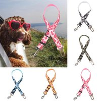 Dog Collars & Leashes Camouflage Denim Pet Car Safety Seat Belt Restraint Lead Travel Leash Adjustable Puppy Rope Accessories Supplies