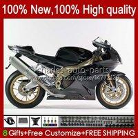 Moto-Karosserie für Aprilia Mille RV60 RSV1000 R RR 2004 2005 2006 Körper 11No.100 RSV-1000 RSV1000RR RSV1000R 04-06 RSV 1000 R 1000R 1000RR 04 05 06 Verkleidungsset Matt schwarz