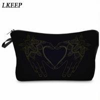 2019 Love Heart Pattern Women Clutch Cosmetic Bag Make Up Organizer Fashion Women Printing Multifunction Portable Makeup Bags l7ML#