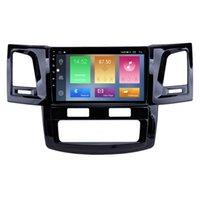 Touch Screen Car DVD GPS Navigation Joueur 9 pouces Android 10 pour Toyota Fortuner Hilux 2008-2014 avec support USB DVR SWC