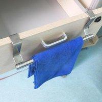 Крючки Rails 1 шт. Стали для ванной комнаты Стойка стойки кухонный шкаф полки хранения сундук держатель дверной дверной подвесной подвесной вешалка A8I6