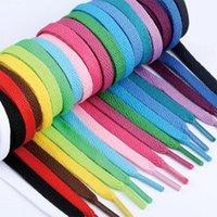 Shoes Materials Wholesale! 500 Pairs Flat Shoelaces 0.8cm Width Laces Strings For Running 100CM   120CM Shoelace DHL Drop