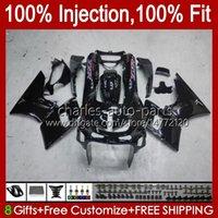 Iniezione Glossy Black Fairings per Kawasaki Ninja ZZR-400 ZZR-600 ZZR400 93 94 95 96 97 98 99 00 84HC.15 ZZR600 ZZR 600 400 2001 2002 2003 2004 2005 2006 Kit corpo OEM 2006 2006