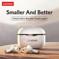 Lenovo LP1 Беспроводные наушники Спортивные водонепроницаемые наушники Bluetooth 300 мАч Зарядная коробка Hifi стереозвуковые наушники с микрофоном
