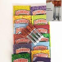 Dabwoods Vape Chariots Naturel Boîte Bouche 510 Fil Ecule Huile Vape Cartouches Emballage 0.8ml 1.0ml Atomiseurs vides avec sacs d'emballage