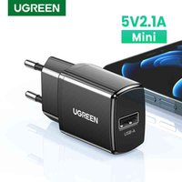 UGREEN USB Charger 5V2.1A Mini Wall EU Adapter Phone for i 8 11 X Mobile Earphone