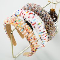 Colorful Crystal Headbands 2020 New Fashion Diamond Hairbands for Women Designer Full Rhinestone Headband Ladies Hair Accessory