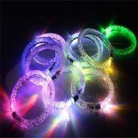 LED Flash Blink Glow Couleur Changer de lumière Acrylique Enfants Jouets Lampe Lumineuse Hand Ring Partie Fluorescence Club Stage Bracelet Bracelet Noël