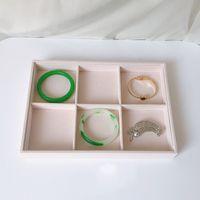 Schmuckladen-Display-Tablett-Ständer Rosa tragbarer Schmuck Aufbewahrungsbox Fall Ring Ohrring Organizer Halskette TRAY1002 T2