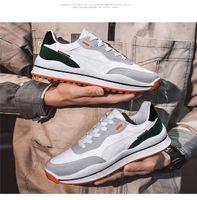 2021 Primavera Exterior Exterior Sapatilhas Trendy Sapatos Sapatos Masculinos Respirável Branco Black All-Match Moda Masculina e Mulheres de Moda39-44