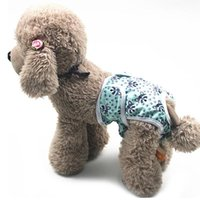 Dog Apparel 2021 Female Panties Cartoon Print Diaper Physiological Pant Sanitary Puppy Shorts Underwear 5 Color Cat Pants