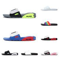2021 Arrivo Sport Air 90s Slide Pantofole da uomo Donne Donne Sandali Moda Black Grigio Volt Blu Rosso Flip Flop Flop Trainer Max Dimensione 36-45