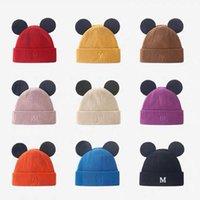 Сладкие и милые уши M Письмо Вышитая шерстяная шапка осень зима студент теплый универсальный вязаный пуловер холодная черная пятница