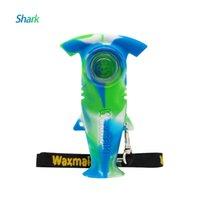 Waxmaid Shark в форме курить ручной трубку табачный силиконовый мини-буровые установки с 6 смешанными цветами для розничного корабля у нас Warehoue