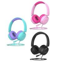 Hubs Over-Ear Headset Removable Cat Ear Headphone For Children Girls Boys Teens Women Gaming Noise Cancelling Lightweight Portable