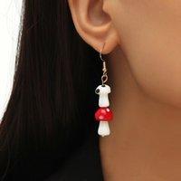 Fashion 2021 Nuovo carino Orecchini in ceramica in ceramica bianca rossa per le donne ragazze regali stile coreano appeso orecchino orecchino gioielli