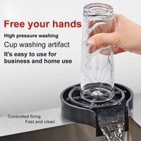 주방 수도꼭지 자동 컵 세탁기 수도꼭지 유리 rinser 싱크 바 커피 투수 컵 컵 도구 액세서리 분무기