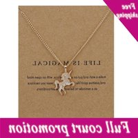 Fashion NO Dogeared New Gold-color Life Is Horse Alloy Clavicle Chain Pendant Chocker Necklace Jewelry Gift