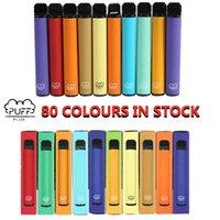 Puff bar Plus 800 puffs Disposable Vapes cigarette 80 colors Pod Cartridge 550mAh Battery 3.2mL Pre-Filled Vape pen Pods Stick Portable Vaporizer