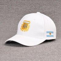 World Cup Football Cap Argentina Caps Berretto da baseball Berretto da baseball uomo traspirante cappello da donna moda net cappuccio sottile in cotone sottile cappello da sole