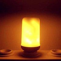 Ampuller E14 Alev Ampul ile AB Tak LED Dinamik Etkili Yangın Işık 4Modes Yaratıcı Titreşen Emülasyon Dekor Lambası