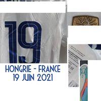 Home Têxtil 2021 Jogador desgastado Edição Griezmann Mbappe Kante Giroud Pogba Futebol Patch Badge