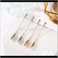 Jewelrywaterdrop Tassel Earrings For Women Girls Kids Alloy Hip Hop Dangle Ear Jewelry Female Fashion Birthday Gifts Design & Chandelier Dro