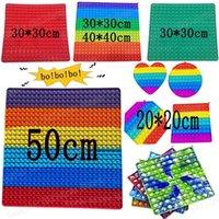 Fun Festa Rainbow Stress Relief Toys 50cm 40 cm 30cm 20cm Super Tamanho Push Bubbles Sensory Adulto Crianças Interativas Jogos