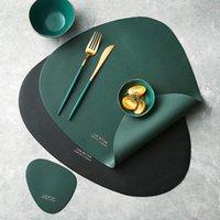 Tableau de table Plaque de vaisselle Tapis de table Tapis PU en cuir PU isolant de chaleur antidérapante Disc Systémats simple pour la salle à manger