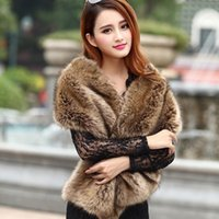 Women's Fur & Faux GAMPORL 2021 Autumn And Winter Fashion Women Shawl Coat Cheongsam To Keep Warm Solid Color Banquet Long