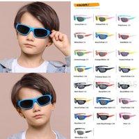 Boys Girls Polarized Silica Gel Sunglasses Cute Oval Frame Sun Glasses for Summer Outdoor Cycling Children UV400 Vintage Classic Kids Eyewear