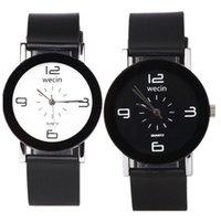 Wristwatches Drop Fashion Rubber Belt Couple Watch Quartz Student Black Women's And Men's Support Wholesale