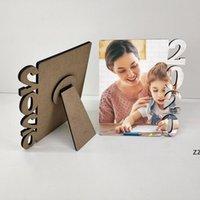 NewMDF Sublimación en blanco Marco de fotos de letras de madera Tablero de fotos Sublimating White Family Home Album Frame Mar Frame HWB8668