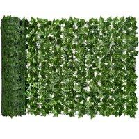 0.5x3M Ivy artificiel de la confidentialité Clôture Screen Headges et Faux Vigne Décoration de feuilles pour décoration extérieure Jardin Couronnes de fleurs décoratives