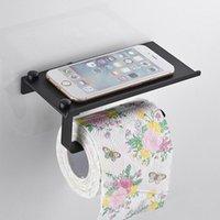 Suporte de papel higiênico de aço inoxidável casa de banho montagem wc prateleira de telefone toalha