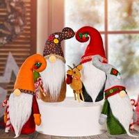 Christmas Gnome Plush Yule Santa Nisse Figurine Swedish Nordic Tomte Scandinavian Elf X'Mas Holiday Home Decor Ornaments HHB10596