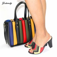 Dress Shoes Designs And Matching Bag Set African With Bags Summer Style Slipper For Wedding