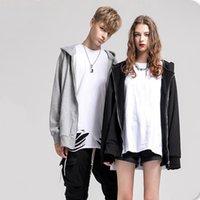 Men's Hoodies & Sweatshirts Sell Unisex Cotton Washed Vintage Hoodie Zippered Up Hooded Sweashirts