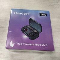 سماعات لاسلكية سماعات الذرة رقاقة الشفافية المعادن إعادة تسمية GPS اللاسلكية سماعات الأذن شحن 2/3 بلوتوث سماعات الرأس توليد الكشف في الأذن