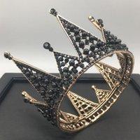 Круглый день рождения королева кристалл жемчуг свадебные головные уборы корона горный хрусталь со свадьбой ювелирные изделия аксессуары для волос алмазные новобрачные науки