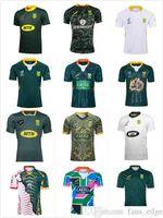 19 20 África Camisa Africano 100th Anniversary Rugby Jersey Champion Versão conjunta National Team Camisas Sul