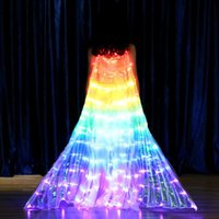 파티 장식 어린이 댄서 LED 망토 성능 빛나는 나비 날개 배꼽 춤 카니발 소품 TUE88