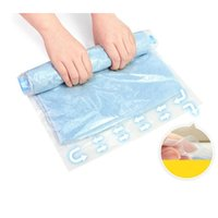 Toiletry Kits 4pcs Hand Rolling Compression Storage Bags Plastic Vacuum Packing Sacks For Clothes Travel Suitcase Luggage Space Saver
